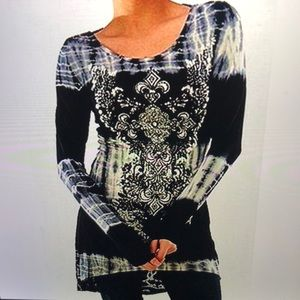 Tops - 🆕Tunic Top Dress Long Sleeves High Low NWT